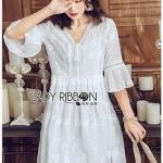 Chiffon Dress Lady Ribbon ขาย เดรสผ้าชีฟอง