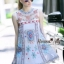 Lady Ribbon Online เสื้อผ้าออนไลน์ขายส่ง Normal Ally เสื้อผ้า NA09180816 &#x1F389Normal Ally Present elegance embroider flower asian organza style dress&#x1F389 thumbnail 5