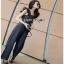 Lady Ribbon Denim Jumpsuit จัมป์สูทสีดำ thumbnail 3