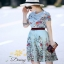 ชุดเซท เสื้อผ้าแฟชั่นเกาหลีสวยๆเสื้อกระโปรงพิมพ์ลายดอกไม้ thumbnail 4