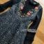 Lady Heidi Flower Black Tweed Dress thumbnail 4