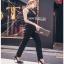 Black Crepe Jumpsuit Lady Ribbon จั้มป์สูทสีดำ thumbnail 6