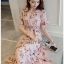 Lady Ribbon Zig-Zag Crepe Dress thumbnail 2