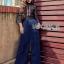 Black Lace and Electric Blue Jumpsuit thumbnail 4