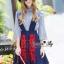 NA12290816 &#x1F389Normal Ally Present Embroidered skirt autumn new collection and striped shirt&#x1F389 (เสื้อเชิตริ้วปักการ์ตูน+ กป.ปักนูนลายกราฟฟิก, มีซับในอย่างดี) thumbnail 2