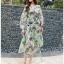 Lady Fiona Artsy Paint Printed Silk Wrap Dress thumbnail 2