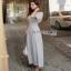 Lady Ribbon Pale-Grey Jumpsuit จัมป์สูทขายาว thumbnail 5