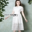 Lady Ribbon Babara Sweet Graphic White Lace Dress thumbnail 3
