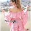 Lady Erika Bubblegum Crop Top and Skirt Set thumbnail 2