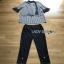 Lady Ribbon Scarf and Black Pants เสื้อลายทาง thumbnail 7