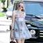 Lady Ribbon Online เสื้อผ้าออนไลน์ขายส่ง Normal Ally เสื้อผ้า NA09180816 &#x1F389Normal Ally Present elegance embroider flower asian organza style dress&#x1F389 thumbnail 3
