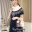 Lady Ribbon Online เสื้อผ้าออนไลน์ ขายส่ง VP06110716 Soft Denim Embroidered Shirt Dress thumbnail 4