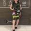 ดเดรสเกาหลีแขนกุดลายทหาร เสื้อผ้าปักเลื่อมรูป thumbnail 2