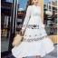 Lady Ribbon White Cotton Maxi Dress thumbnail 2