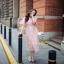 เสื้อผ้าลูกไม้กระโปงแฟชั่นเกาหลีสีชมพู thumbnail 3