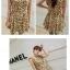 เสื้อแฟชั่น/เดรสเกาหลีแขนกุดผ้าไหมเกาหลีเนื้อผ้าลื่นพริ้ว ลายดอกไม้ thumbnail 4