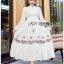 Lady Ribbon White Cotton Maxi Dress thumbnail 1