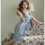 Lady Striped Sleeveless Dress with Ribbon เดรสผ้าเครป thumbnail 3
