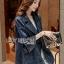 Lady Ribbon Denim Coat Dress thumbnail 1