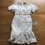Lady Ribbon Ruffle Lace Dress เดรสชีฟองสีขาว thumbnail 7
