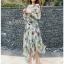 Lady Fiona Artsy Paint Printed Silk Wrap Dress thumbnail 1