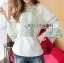 LR02290816 &#x1F380 Lady Ribbon's Made &#x1F380 Lady Cori Pastel Embroidered Ruffle-Sleeve Cotton thumbnail 3