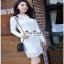 เสื้อผ้าแฟชั่น เดรสลูกไม้สีขาวแขนยาวเสื้อผ้าแฟชั่นออนไลน์ thumbnail 3
