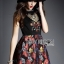 Lady Modern Hippie Floral Embroidered and Printed Dress thumbnail 1