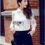 Lady Ribbon Online ขายส่ง เสื้อผ้าออนไลน์ ของแท้ ราคาถูกพร้อมส่ง เลดี้ริบบอน LR18140716 &#x1F380&#x1F380 Lady Ribbon's Made &#x1F380&#x1F380 Lady Blaire Floral Embroidered Lace Shirt in White thumbnail 4