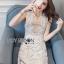 Lady Anna Feminine Sexy White Lace Dress thumbnail 1