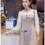 Mini Dress มินิเดรสผ้าลายสก็อตและผ้าชีฟองสีขาว thumbnail 5