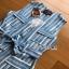 Lady Striped Sleeveless Dress with Ribbon เดรสผ้าเครป thumbnail 9