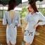 Lady Ribbon Online ขายส่งเสื้อผ้าออนไลน์ Lady Ribbon LR03040816 &#x1F380 Lady Ribbon's Made &#x1F380 Lady Lilly Chinoise Chic Backless Shirt Dress thumbnail 2