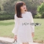 White Lady ribbon Lace and Chiffon Dress เดรสผ้าลูกไม้ thumbnail 4