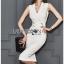 Chic Lady Ribbon Clean White Suit Dress thumbnail 1