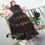 ชุดเดรสสีเนื้อสีดำชีฟอง thumbnail 5