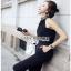 Black Crepe Jumpsuit Lady Ribbon จั้มป์สูทสีดำ thumbnail 1