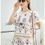 Lady Ribbon White Cotton Set ขายเซ็ตเสื้อคอตตอน thumbnail 3