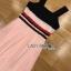 Lady Maddie Striped Ribbon Pleated Dress thumbnail 8