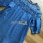 Lady Erin Casual Denim and Lace Mini Dress thumbnail 5