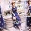 SS03010916 Seoul Secret Say's... Netty Bird Stickly Maxi Dress Material : เนื้อผ้า Net เนื้อนุ่ม สวยหรูด้วยทรงแม๊กซี่ตัวยาว thumbnail 4