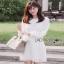 White Lady ribbon Lace and Chiffon Dress เดรสผ้าลูกไม้ thumbnail 3