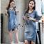 Lady Ribbon Online ขายส่งเสื้อผ้าออนไลน์ Very very pretty เสื้อผ้า VP04100816 Chic Denim Flared sleeves Dress thumbnail 1