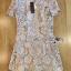Lady Ribbon ขายส่งเสื้อผ้าออนไลน์พร้อมส่งของแท้ LR15220716 &#x1F380 Lady Ribbon's Made &#x1F380 Lady Jennie Sweet Feminine Nude Guipure Lace Dress เ thumbnail 5