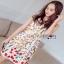Lady Ribbon Mini Dress มินิเดรสสีครีมปักลายดอกไม้ thumbnail 3
