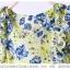 เสื้อแฟชั่น/เดรสเกาหลีแขนกุดผ้าไหมเกาหลีเนื้อผ้าลื่นพริ้ว ลายดอกไม้ thumbnail 15