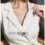 Chic Lady Ribbon Clean White Suit Dress thumbnail 4