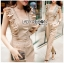 Beige Gold Lady Ribbon Jumpsuit thumbnail 1
