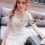 Lady Anna Feminine Sexy White Lace Dress thumbnail 3