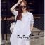 Lady Ribbon Online ขายส่งเสื้อผ้าออนไลน์ Very very pretty VP02030816 Lovely White Cotton Long Shirt Style Korea thumbnail 3
